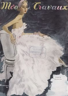 Dior Illustration by Pierre Mourgue