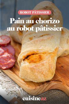 Pour terminer un reste de chorizo, voici une recette originale de pain au chorizo à préparer avec un robot culinaire. #recette#cuisine#pain#chorizo #robotculinaire #robot #robotpatissier #robotmenager Voici, Dairy, Cheese, Food, Cooking Recipes, Recipe Of The World, Essen, Meals, Yemek