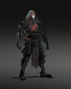 mech armor, Johnathan Reyes on ArtStation at https://www.artstation.com/artwork/OE5d6