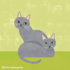 Cats works - Chie Katayama Illustration Cat Heaven, Picasso Art, Dog Poster, Here Kitty Kitty, Wallpaper Iphone Cute, Cat Drawing, Ceramic Painting, Whimsical Art, Love Art