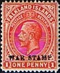 Falkland Islands 1918 War Stamp Overprint SG 71 Fine Mint SG 71 Scott MR2    Condition  Fine LMMOnly one post charge applied on multipul purchases
