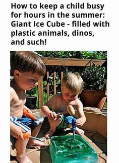 How to keep a kid busy: dinosaur excavation  Freeze toys
