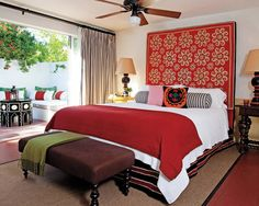 A room at the Colony Palms Hotel in Palm Springs