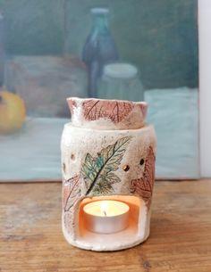 Duftlampe Keramik Windlicht Aromalampe Hagebutten Kerzenhalter Duftlämpchen