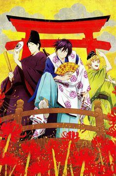 Tags: Scan, Official Art, Noragami, BONES (Studio), Yato (Noragami), Yukine (Noragami), Ebisu (Noragami)