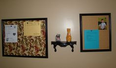 Homemade Magnetic Fabric Bulletin Board – This was so easy!