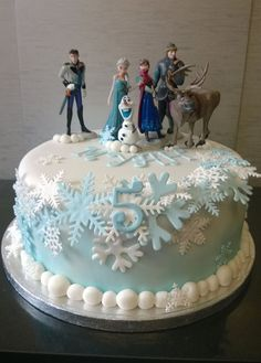 Single tier frozen cake