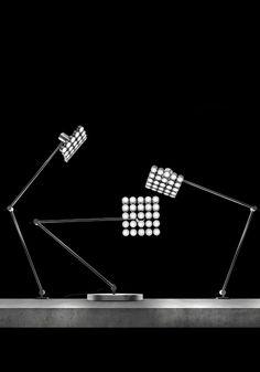 Projector LED table lamp by Michael Samoriz