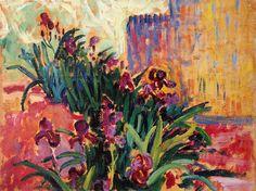 """Paul Signac Studie für """"Au temps d'harmonie"""". Die Iris (Privatsammlung) 1894"""