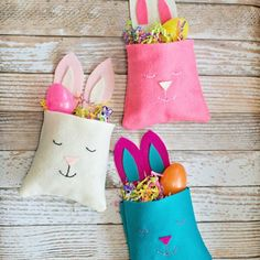 Felt Bunny Favor Bag