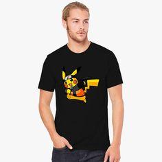 a5e623e4dc3b6e Pokemon Pikachu Naruto Men s T-shirt comes from our design category with  Customon high quality