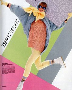 With its pastel palette and layered, knit-heaving offerings, Esprit and Esprit Sport were every '80s girl's go-to for mall-chic casual wear. (December 1985)