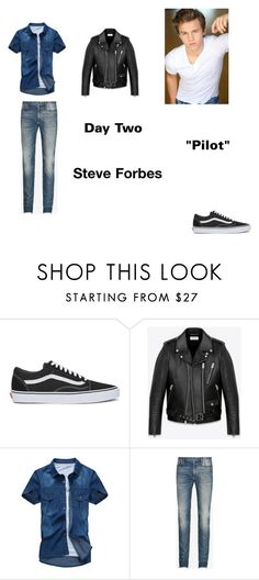 """""""Steve Forbes Worlds Colliding (The Vampire Diaires) 1.01 """"Pilot"""" by jdefloria on Polyvore featuring Vans, Yves Saint Laurent, Maison Margiela, men's fashion and menswear"""