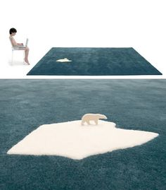 Fantastic global warming rug, designed by Nanimarquina