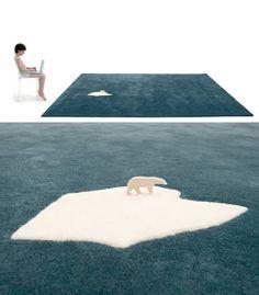 Fantastic global warming rug, designed by Nanimarquina