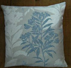 Laura Ashley Tenby Seaspray Fabric Design Scatter Pillow Cushion Cover