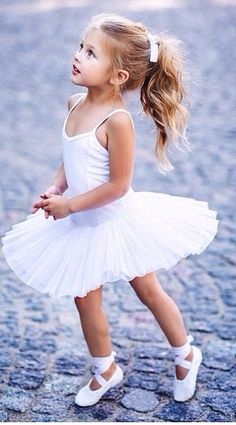 Looks like a hybrid of Jasmine and Noelle. Little Girl Ballerina, Little Girl Dancing, Dance Outfits, Kids Outfits, Baby Ballet, Toddler Ballet Outfit, Toddler Ballerina Costume, Ballerina Outfits, Ballet Pictures
