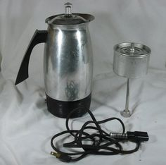 Vintage Mirro-Matic Mirro 10 Cup Coffee Purcolator mod 170M Complete Works EUC