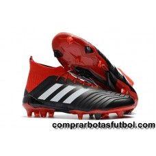 0e6b67c937979 Baratos Botas De Futbol Adidas Mujer Predator 18.1 FG Rojo Negro Blanco