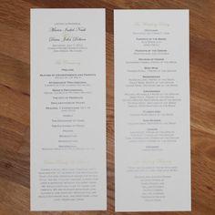 Elegant Text Design Tea Length Flat Wedding Programs, Double Sided - Church Bulletin, $1.05 each minimum of 50.