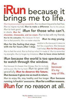 I RUN Because ... Get more running motivation on Favorite Run Facebook page - https://www.facebook.com/myfavoriterun