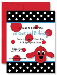 Clifford party invite