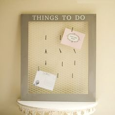 The wonder years diy kitchen memo board things i need to diy easy makeperfect for invitationsreminders stopboris Image collections