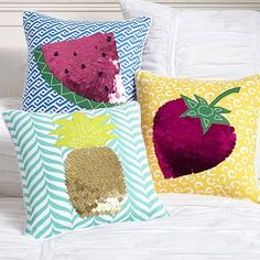 Tutti Fruity Pillow Covers! Love them! They're very IzzyKittyDance! #pbteen