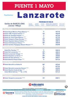Lanzarote, Puente 1 de Mayo, salida Jueves 1 Mayo desde Barcelona ultimo minuto - http://zocotours.com/lanzarote-puente-1-de-mayo-salida-jueves-1-mayo-desde-barcelona-ultimo-minuto/