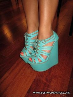 cute light blue wedges - Woman Shoes - Best Collection