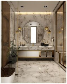 """Sophisticated bathroom design style with a vanity mirror. """"A mirror doesn't lie"""" as it provides you with clear, crisp and impeccable reflection. Bathroom Design Luxury, Modern Bathroom, Small Bathroom, Minimal Bathroom, Bath Design, Modern Bathtub, Zen Bathroom, Funny Bathroom, Neutral Bathroom"""