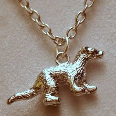 Shiny pewter ferret charm necklace   Celtic Mink Jewelry and Stuff