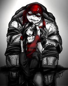 Raphril - Disguise by on DeviantArt Teenage Ninja Turtles, Ninja Turtles Art, Tmnt Characters, Tmnt Girls, Tmnt Comics, Fantasy Female Warrior, Tmnt 2012, Deviantart, Superhero