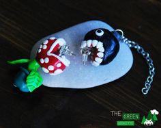 Piranha Plant - Chain Chomps - Boucles d'oreilles - Super Mario Bros Nintendo