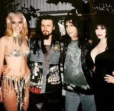 Just a bunch freaks hanging backstage at Irvine Meadows in California back in Rob Zombie Film, Sheri Moon Zombie, Robert Cummings, Kerry King, White Zombie, Horror Movie Characters, Extreme Metal, Halestorm, Rock And Roll Bands