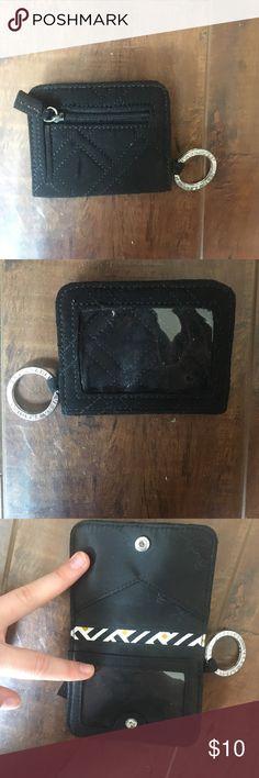 Vera Bradley Card Holder Black, change pocket, 5 slots for cards. Practically knew, never used Vera Bradley Bags Wallets