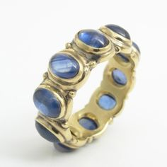 Blue Sapphire All-Around Ring by Caleb Meyer