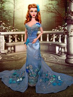 Tonner's Azure Blue fashion on a Gene doll.
