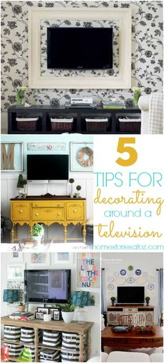 Great DIY tips for decorating around a television!
