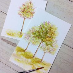 Tips & Tricks: Watercolor Trees - Stamp Away With Me