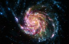 This composite image of M101 (also known as the Pinwheel Galaxy) combines data from four of NASA's space-based telescopes.