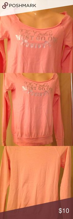 Juicy Couture Longsleeve blouse M Never worn, tiny hole in wrist area from tag. Actual color is peach. Juicy Couture Tops Tees - Long Sleeve