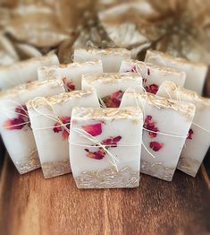 These Gorgeous Rose Accent Soap Favors Have An Elegant, Whimsical Appearance And Make Wonderful Additions To Weddings Or Baby Showers. Scented With 100 Pure Fragrance Oils And Colored Naturally Wedding Favors And Gifts, Beach Wedding Favors, Summer Wedding, Soap Favors, Candy Favors, Bridal Shower Decorations, Wedding Decorations, Wedding Ideas, Sugar Scrub Diy
