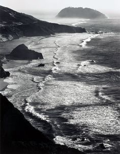 Storm, Point Sur, Monterey Coast CA, 1942, by Ansel Adams Beautiful*********************