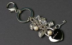 Handmade Silver Plated Engraved Personalised Heart Keyring by MillingtonsGifts on Etsy