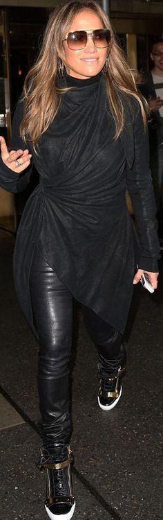 Jennifer Lopez: Jacket – Rick Owens Shoes – Giuseppe Zanotti