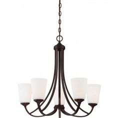 Minka-Lavery - Overland Park 5 Light Chandelier @ Lamps.com
