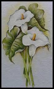 Resultado de imagen para cuadros de calas pintadas en acrilico
