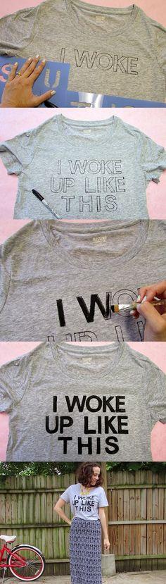 Tutoriales y DIYs: Pintar camiseta