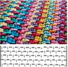 Crochet ideas that you'll love Crochet Diy, Crochet Motifs, Crochet Blocks, Crochet Diagram, Crochet Stitches Patterns, Crochet Chart, Crochet Designs, Stitch Patterns, Knitting Patterns
